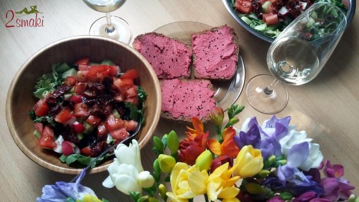 Wino Lidl hummus sałata