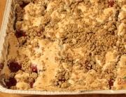 Kruche ciasto z pianką i malinami - wegańskie i bezglutenowe