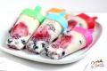 Lody jogurtowe z owocami i migdałami
