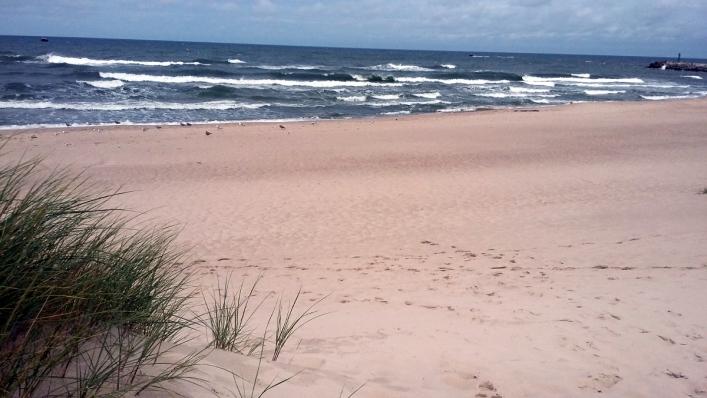 Plaża zachodnia w Ustce