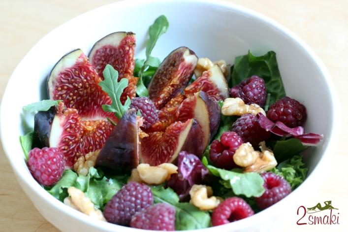 Sałata z figą i orzechami