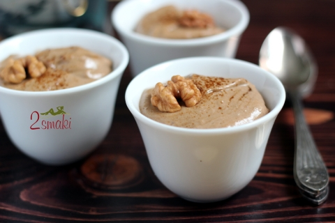 Wegański deser kawowo-orzechowy