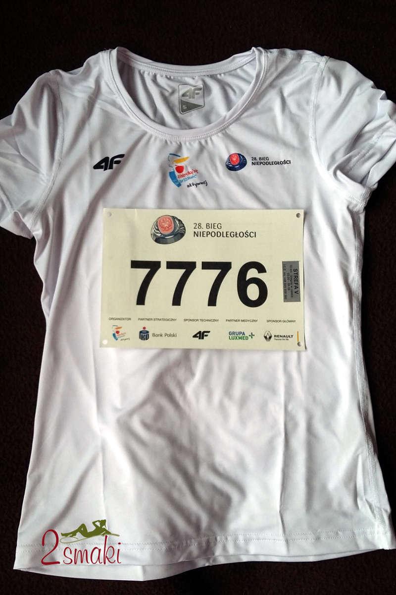 Bieg Niepodległości koszulka i numer startowy