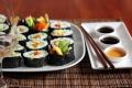 Sushi z olejem sezamowym i olejem z pestek dyni