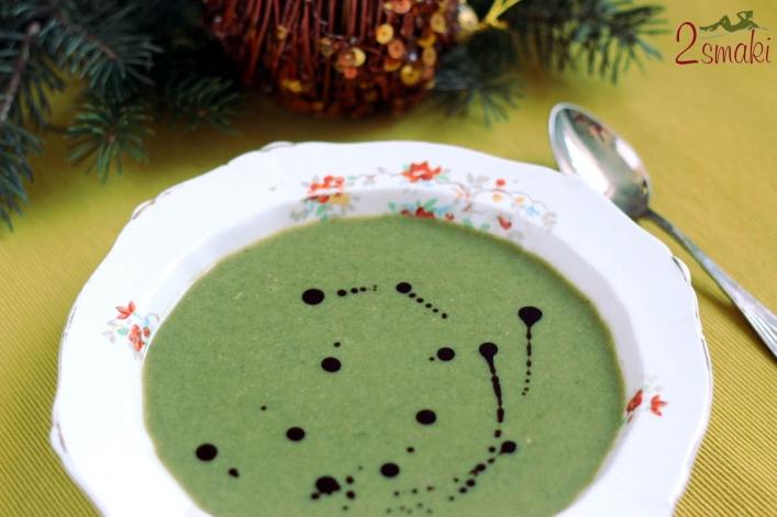 Zupa groszkowo-szpinakowa