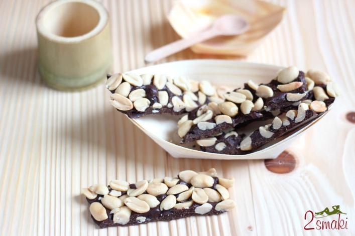 Batoniki fistaszkowo-czekoladowe