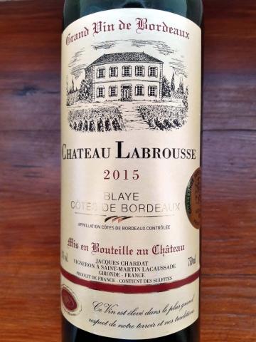 Blaye Cotes de Bordeaux Chateau Labrousse 2015