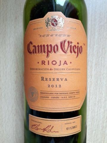 Campo Viejo Reserva 2012
