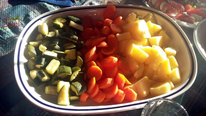 Co jedzą Włosi, warzywa na parze