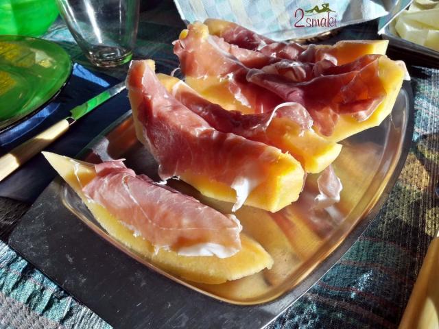 Camposampiero, jedzenie, melon z prosciutto crudo