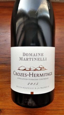 Domaine Martinelli Crozes Hermitage 2015
