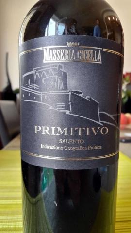 Masseria Cicella Primitivo Salento 2015