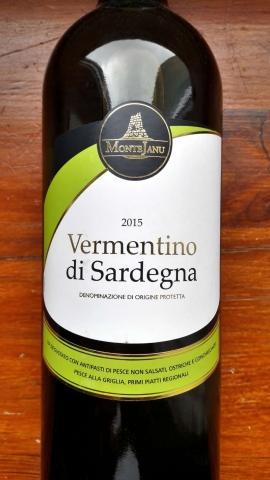 Monte Janu Vermentino di Sardegna 2015