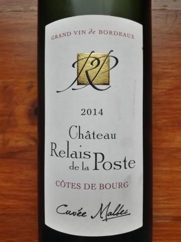 Château Relais de la Poste Côtes de Bourg Cuvée Malbec 2014